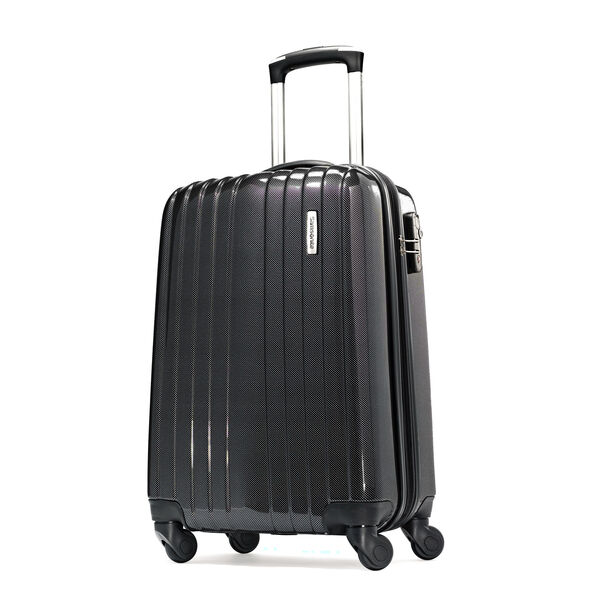 "Samsonite Carbon1 DLX 20"" Spinner in the color Silver."