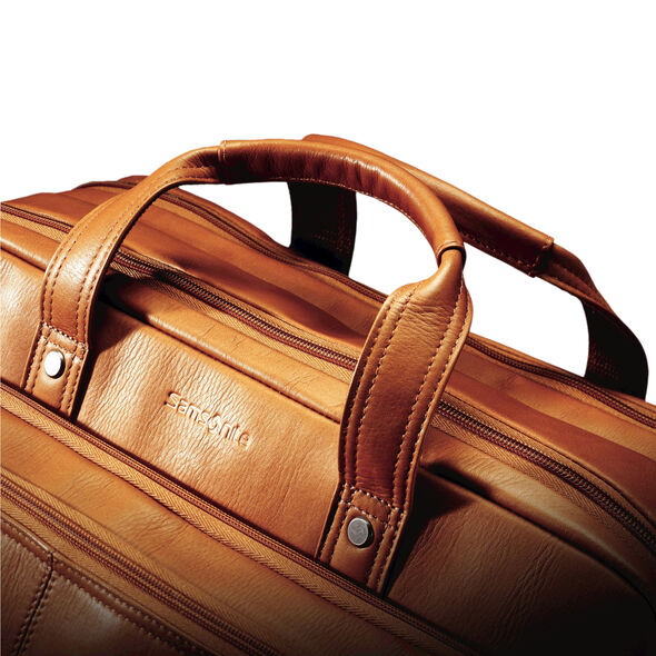 Samsonite Colombian Leather 2 Pocket Business Case in the color Tan.