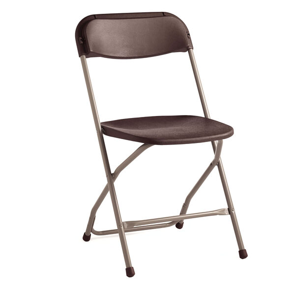 Samsonite 2200 Series Injection Mold Folding Chair (Case/10) in the color Neutral/Chocolate.