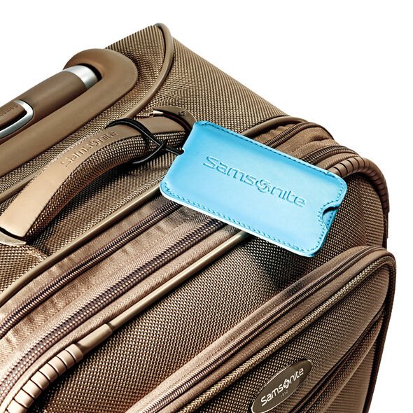 Samsonite Vinyl ID Tag (Set of 2) in the color Pagoda Blue.