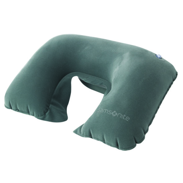 Samsonite Double Inflatable Neck Pillow in the color Grey.