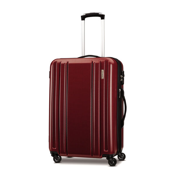 """Samsonite Carbon 2 24"""" Spinner in the color Red."""