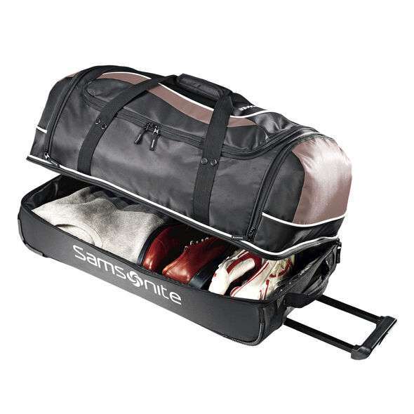 "Samsonite Andante 28"" Drop Bottom Wheeled Duffle in the color Black/Grey."