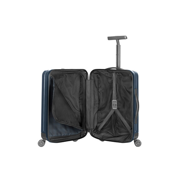 "Samsonite Inova 20"" Spinner in the color Indigo Blue."
