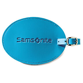 Samsonite Large Vinyl ID Tag in the color Pagoda Blue.