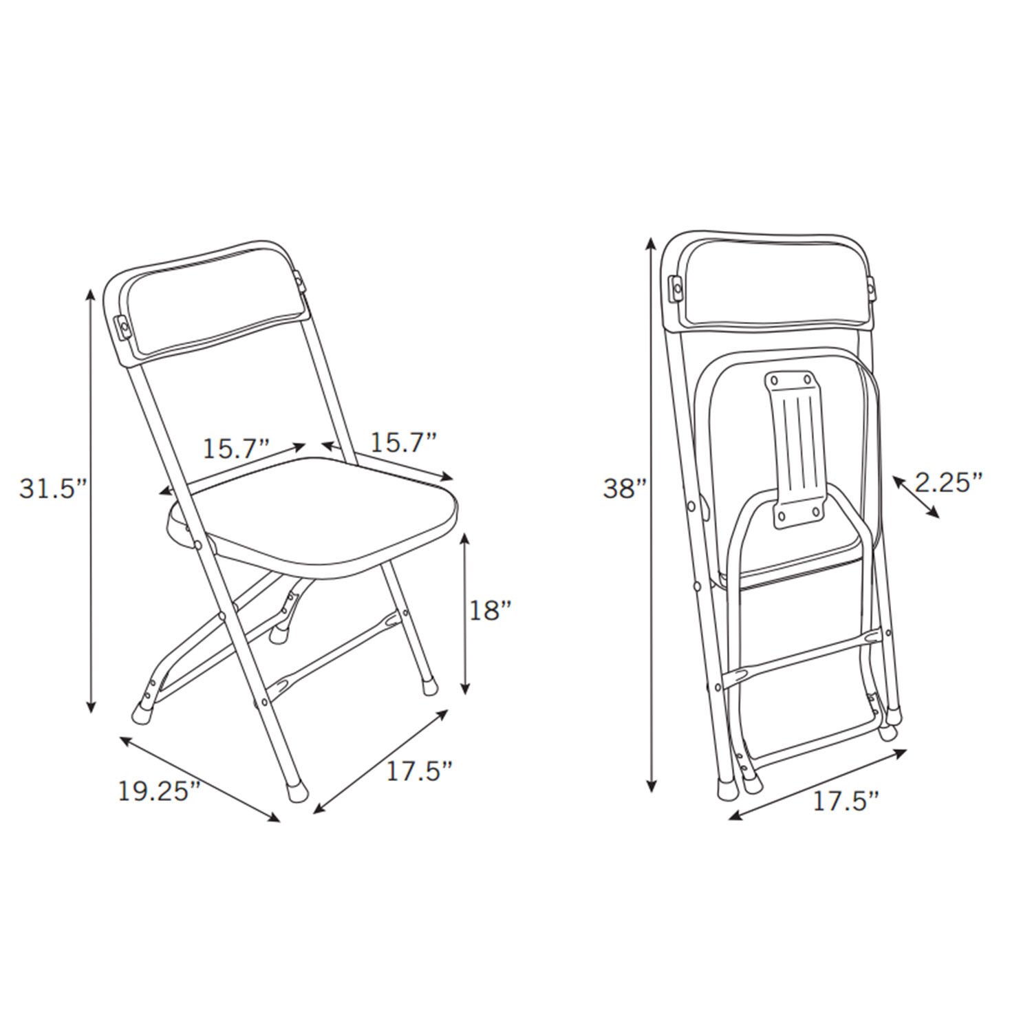 Samsonite 2200 Series Injection Mold Folding Chair Case 10
