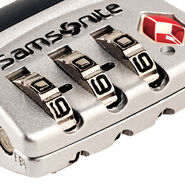 Samsonite 3 Dial Travel Sentry Cable Lock in the color Silver.