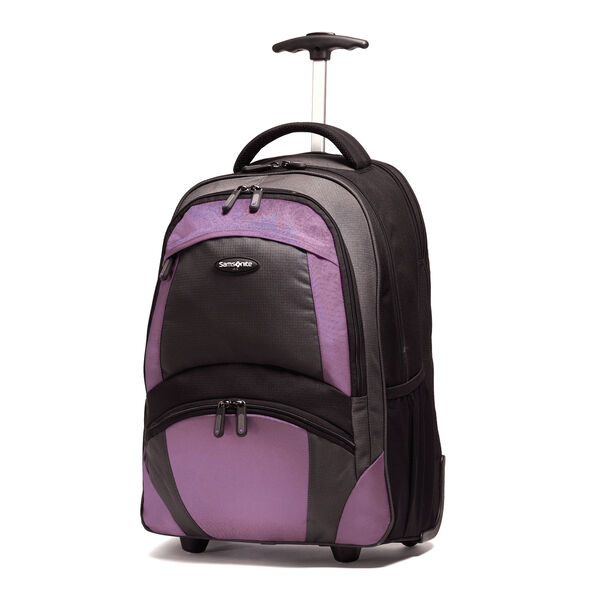 Samsonite Wheeled Computer Backpack in the color Lavender and Black.