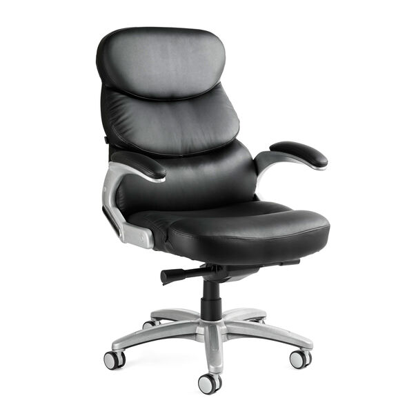 Samsonite Sydney Bonded Leather Chair in the color Black.