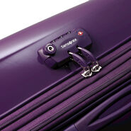 """Samsonite Sahora Brights 20"""" Carry On Spinner Luggage in the color Purple."""