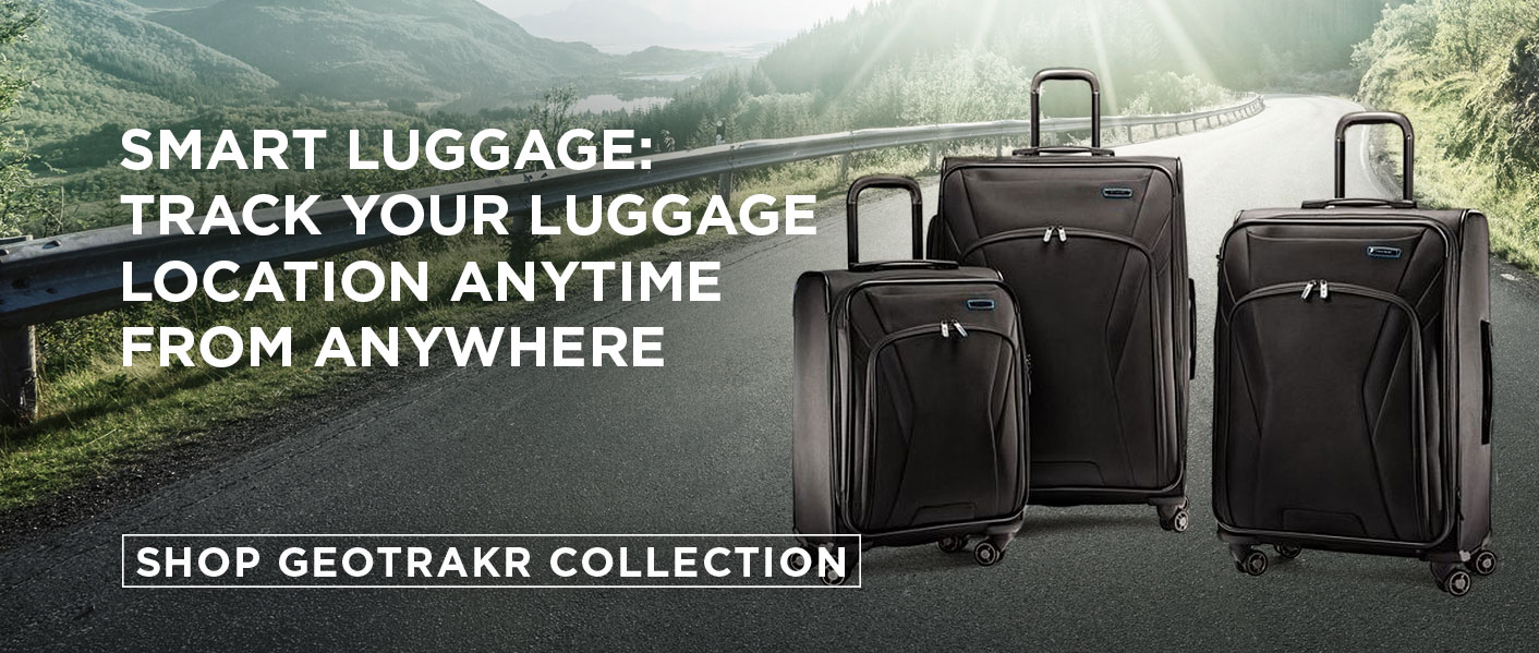 Track your Luggage Location, anytime from anywhere with Samsonite's Smart Luggage Collection - GeoTrakR. Shop Now.