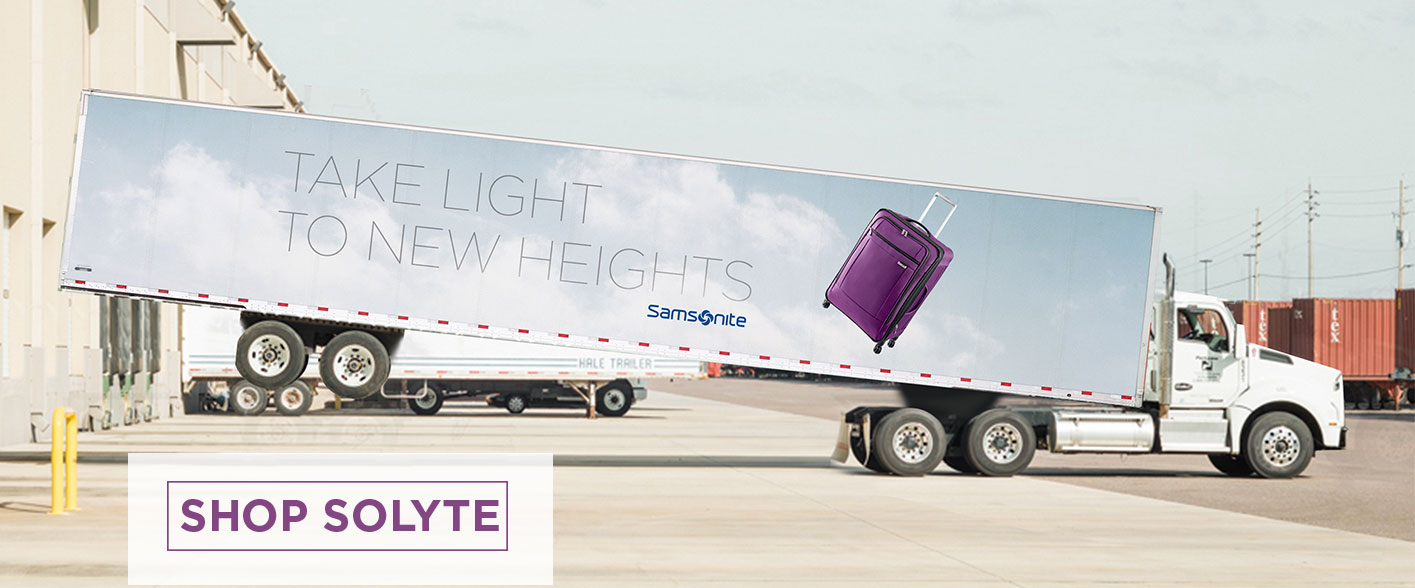 Introducing - Samsonite SoLyte Collection. Take Light to New Heights. Shop Now.