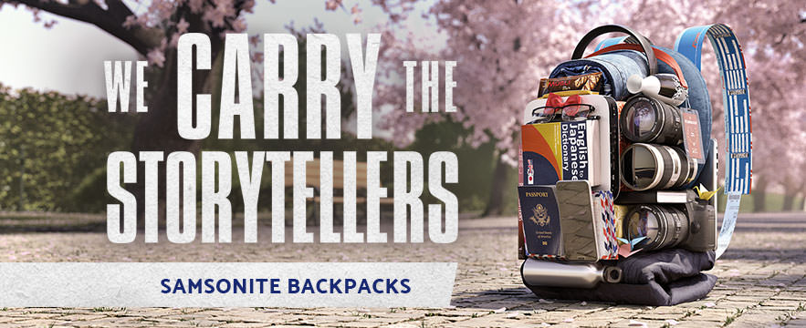 At Samsonite we carry more than just stuff. We Carry the Storytellers, we carry the world. Shop Samsonite Backpacks Now.
