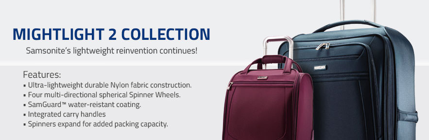 Samsonite Mightlight 2 Collection - Samsonite's reinvention of lightness continues! - Shop Now.