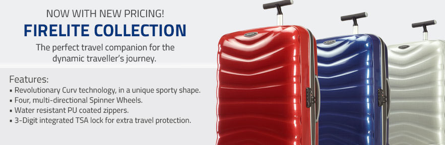 The Samsonite Firelite Collection - The perfect travel compantion for the dynamic traveller's journey.