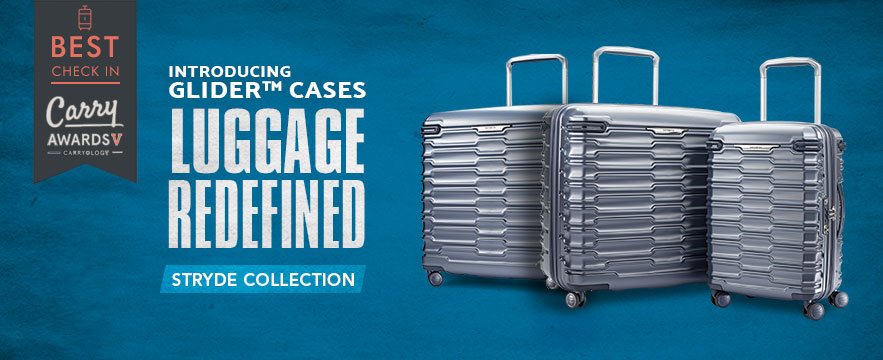 Samsonite's Stryde Collection - Luggage Redefined. Shop Now.