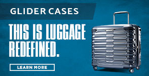 Introducing Samsonite Glider Cases. This is Luggage Redefined. Learn More.