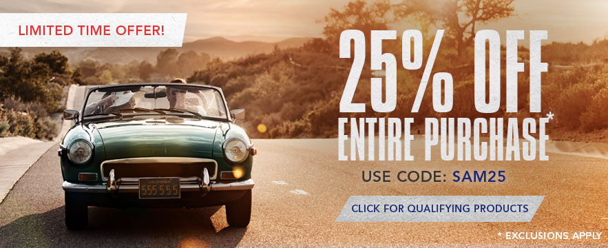 Limited Time Offer - 25% off Sitewide. Use Promo Code:SAVE25. Shop Now.