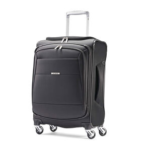 "Samsonite Eco-Nu 20"" Expandable Spinner in the color Granite/Midnight Black."