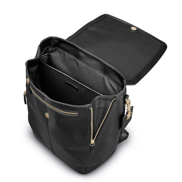 Samsonite Ladies Leather Hamptons Backpack in the color Black.