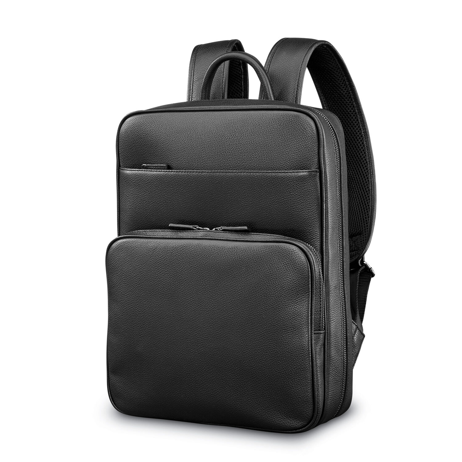 273a4531dd5 Samsonite Mens Leather Classic Slim Backpack in the color Black.