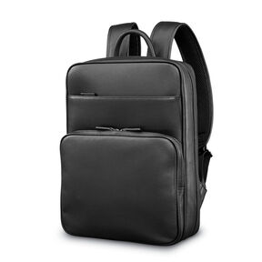 Samsonite Mens Leather Classic Slim Backpack In The Color Black