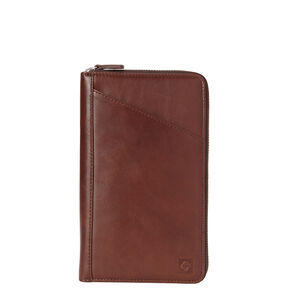 Samsonite Leather Zip Travel Wallet in the color Chestnut.