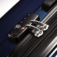 "Samsonite Reflex 2 24"" Expandable Spinner in the color Deep Blue."