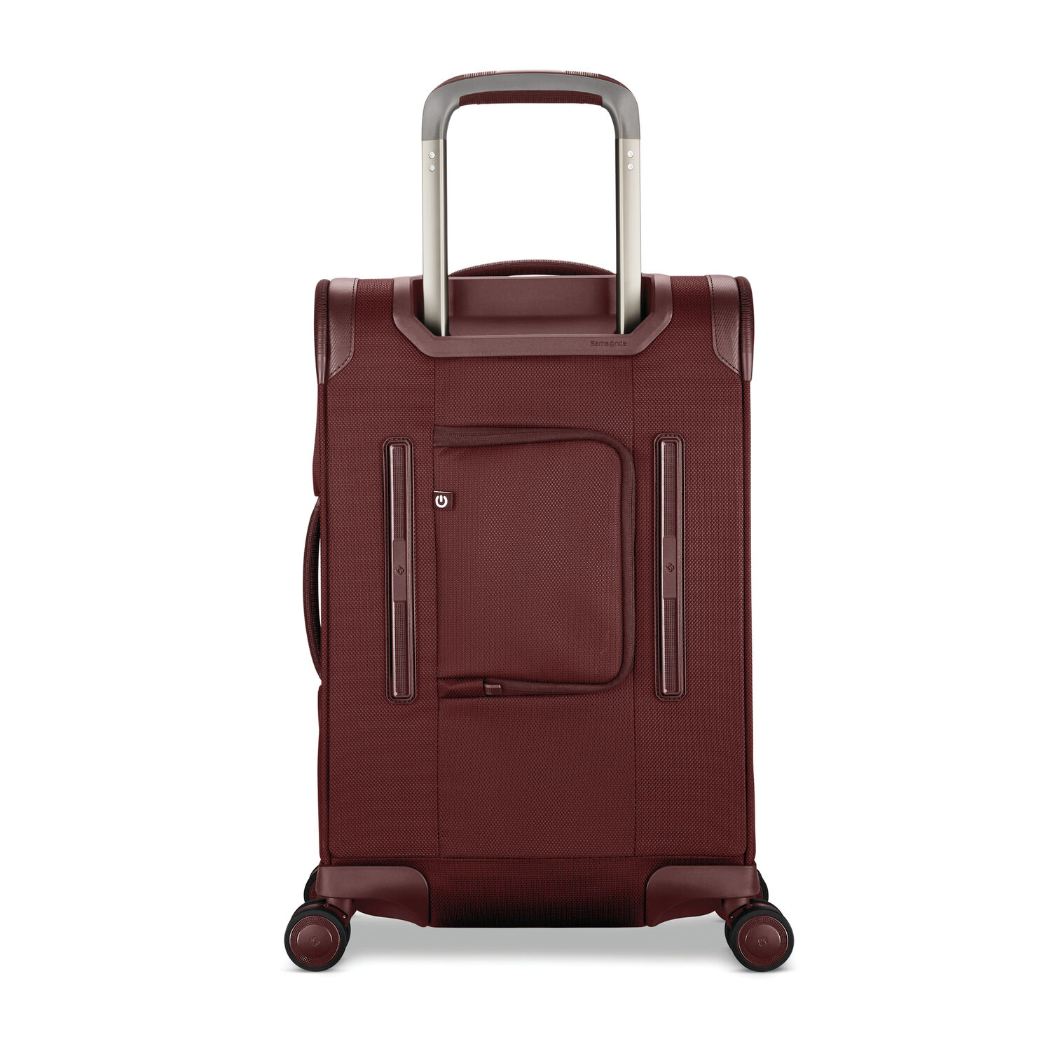 03d55e2293dbb6 Samsonite Silhouette 16 Expandable Carry-On Spinner in the color Cabernet  Red.