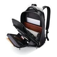 Samsonite Classic Leather Backpack in the color Black.