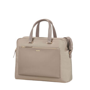 "Samsonite Zalia Organized Bailhandle 14.1"" in the color Beige."