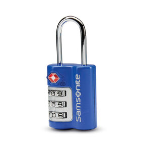 Samsonite 3 Dial Combination Lock in the color Blue Fantasy.