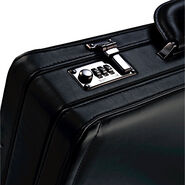 Samsonite Leather Attache in the color Black.