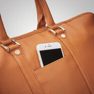 Samsonite Ladies Leather Weekender in the color Cognac.