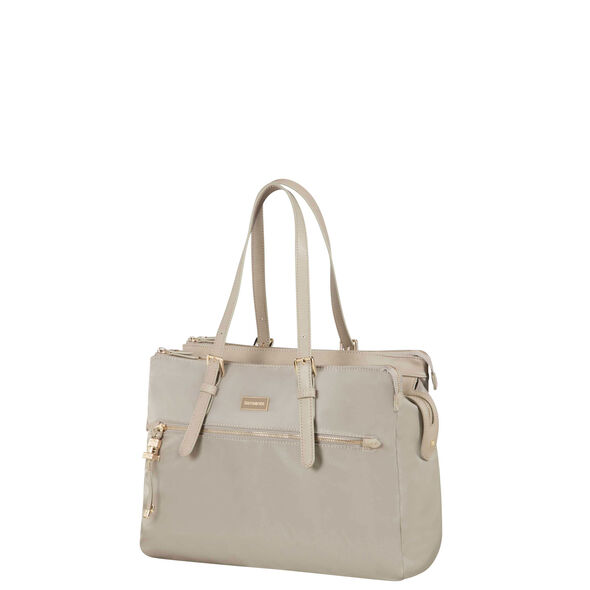 "Samsonite Karissa Biz Organized Shopper 14.1"" in the color Light Taupe."