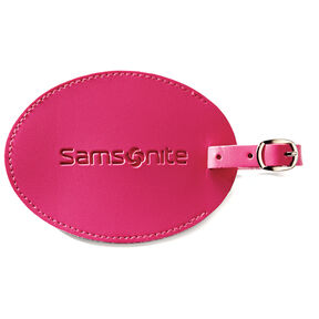 Samsonite Large Vinyl ID Tag in the color Raspberry.