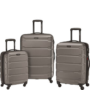 Samsonite Omni PC 3 Piece Spinner Set in the color Silver.
