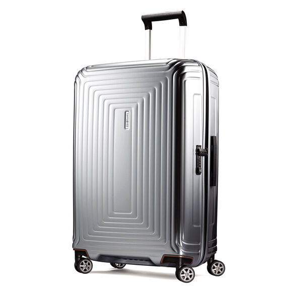 "Samsonite NeoPulse 28"" Spinner in the color Metallic Silver."