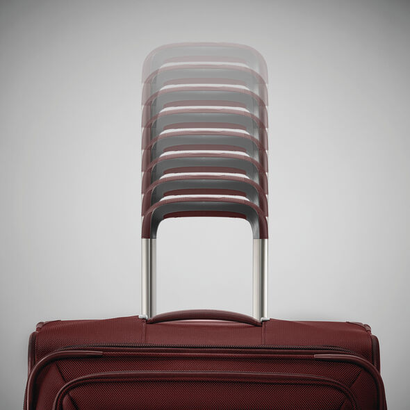 Samsonite Silhouette 16 Expandable Carry-On Spinner in the color Cabernet Red.
