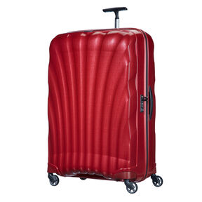 "Samsonite Black Label Cosmolite 3.0 33"" Spinner in the color Red."