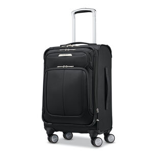 SoLyte DLX Carry-On Expandable Spinner in the color Midnight Black.