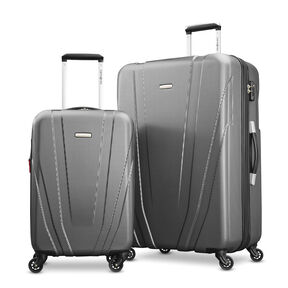 Samsonite Valor 2 Piece Set in the color Charcoal.