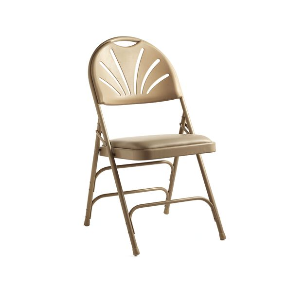 Samsonite Fanback Steel & Vinyl Folding Chair (Case/4) in the color Neutral.