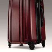 "Samsonite Carbon 2 24"" Spinner in the color Red."
