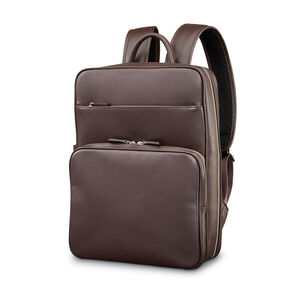 Samsonite Mens Leather Classic Slim Backpack in the color Dark Brown.