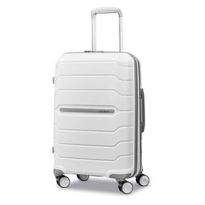 "Samsonite Freeform 21"" Spinner in the color White."