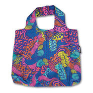 Foldable Shopper's Tote in the color Acid Nature Print.