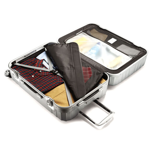 "Samsonite Tru-Frame Collection 25"" Spinner in the color Matte Silver."