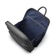 Samsonite Mens Leather Classic Slim Backpack in the color Black.