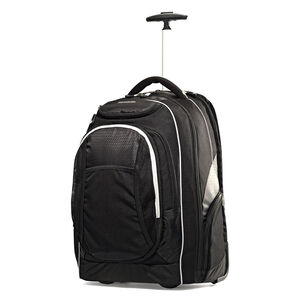 "Tectonic 21"" Wheeled Backpack in the color Black."